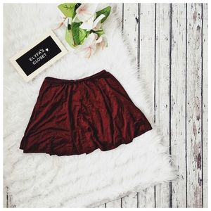 Velvet/Suede Circle Skirt